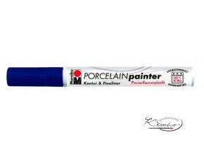 Porcelain painter - 293 / M - Modrý tmavý