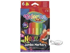 Popisovač Neonový Jumbo Colorino 6ks