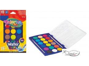 Vodové barvy Colorino 18 ks + 2 štětce