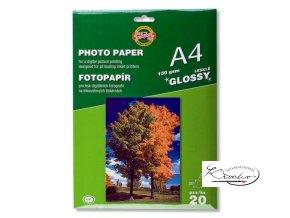 Fotopapír 150gsm/A4/lesklý 20ks Koh-i-noor