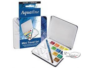 Akvarelové barvy - Aquafine Mini travel set 10