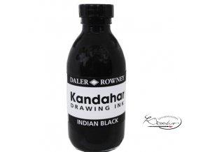 Inkoust černý - Kandahar Indian Black - Daler Rowney 175 ml