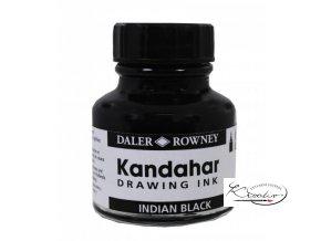 Inkoust černý - Kandahar Indian Black - Daler Rowney 28 ml