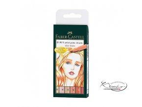 Umělecký popisovač Faber-Castell Artist Pen Skin 6ks