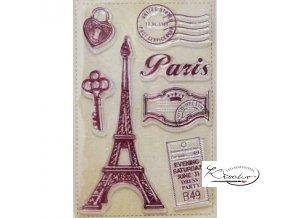Gelová razítka - Paříž malá