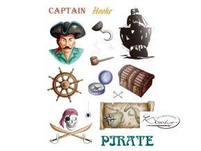 Gelová razítka - Piráti