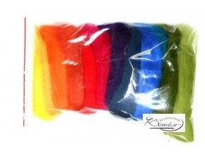 Ovčí vlna merino česaná 50g Mix 12 barev