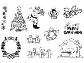 Gelová razítka - Merry Christmas