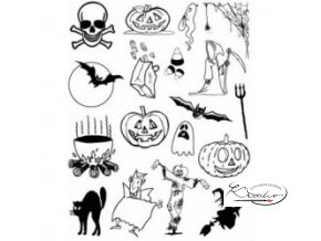 Gelová razítka - Halloween