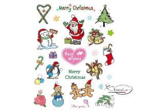 Gelová razítka - Merry Christmas II.