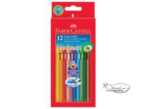 Pastelky Faber-Castell Grip 12 Aquarell Effect