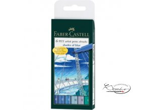 Brush artist pens 6 Pitt - Shades of blue
