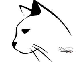 Plastová šablona - kočka