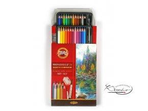 Akvarelové pastelky Mondeluz 24