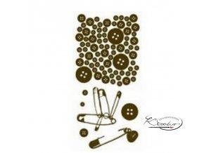 Gelová razítka - Knoflíky