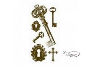 Gelová razítka - Klíče