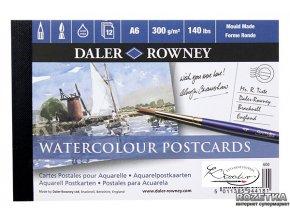 Blok akvarelových pohlednic Daler Rowney A6