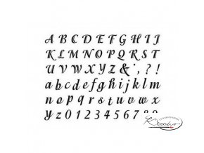 Gelová razítka - Písmena a číslice psací