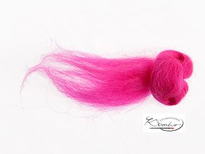 Ovčí vlna česaná 20g - 80 Růžová neon