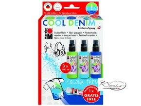 Barvy na textil Sada Fashion Spray Cool Denim