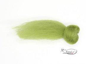 Ovčí vlna česaná 20g - 66 Zelená světlá