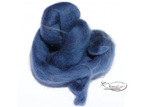 Ovčí vlna česaná 20g - 42 Modrá tmavá
