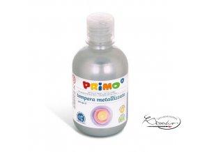 Tempera metalická Primo 300 ml - Stříbrná