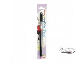 Pentel popisovač štětečkový - Arts Color Brush - černý
