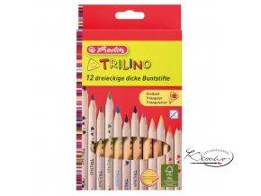 Pastelky trojhranné silné Trilino 12ks