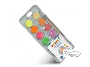 Vodové barvy Primo 8 metalické + 4 neonové / 30mm