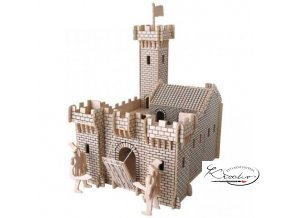 Dřevěná skládačka 3D puzzle - Hrad