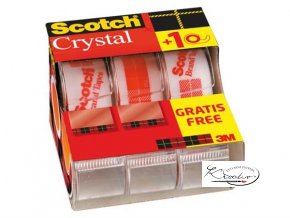 Plakband Scotch 600 19mmx7 5m Crystal Clear handafroller (c)960202