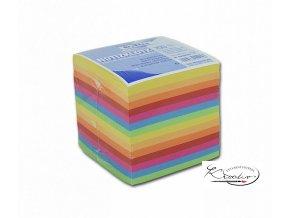 Bloček KOSTKA barevná 90 x 90mm, nelepená