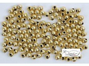 Dekorační korálky 6mm - zlaté