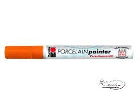 Porcelain painter - 225 / F - Oranžový
