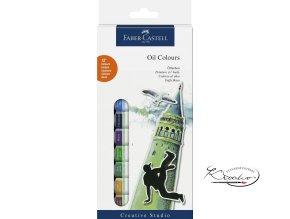 Sada olejových barev Faber-Castell 12x12ml