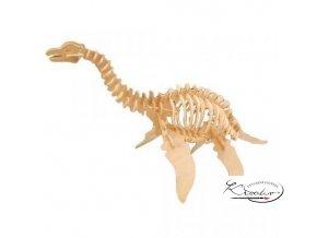 Dřevěná skládačka 3D puzzle - Plesiosaurus