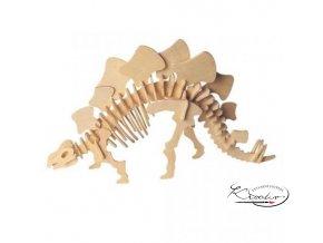 Dřevěná skládačka 3D puzzle - Stegosaurus