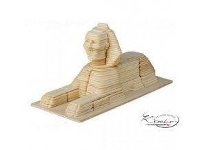 Dřevěná skládačka 3D puzzle - Sfinga