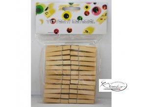 Dřevěné kolíčky Natur 48ks / 4,7mm