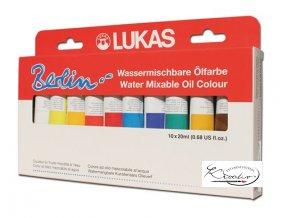 Olejové barvy Lukas Berlin 10x20ml - ředitelné vodou