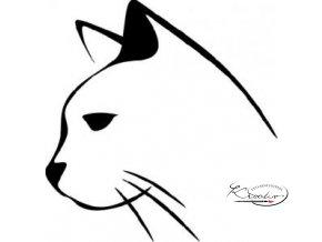 Plastová šablona - Hlava kočka