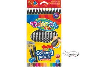 Pastelky Colorino trojhranné 12 + ořezávátko