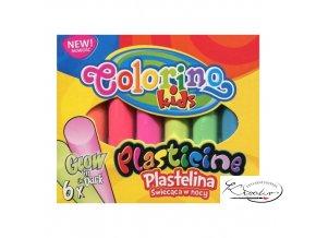 Modelovací hmota Colorino - Svítící ve tmě 6ks