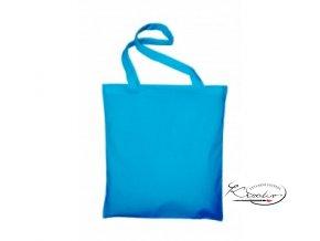 Taška bavlněná 42x38 cm - modrá