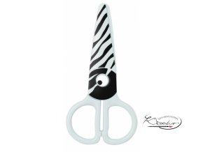 Dětské nůžky plastové - Zebra