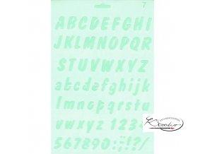 Plastová šablona Silhouette - Abeceda A4