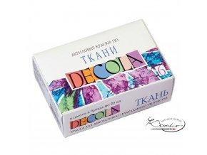 Sada barev na textil Decola 6ks