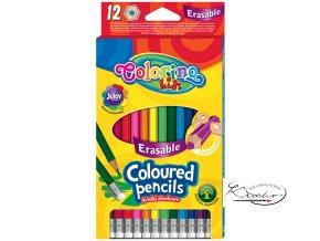 Pastelky Colorino gumovací 12