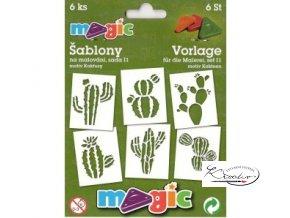 Magic papírové šablony sada I1 - Kaktusy